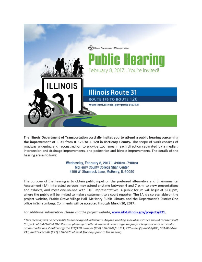Public Hearing Display Rt. 31 and Rt. 176