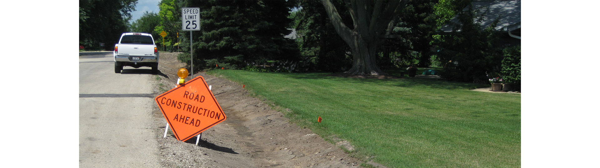 Nunda Road District Road Construction Ahead